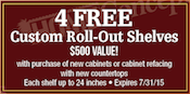 Get free roll out drawers with of cabinets or refacing